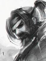 Samurai sketch by ivangod