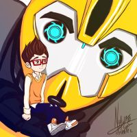 Bumblebee and Raf - Transformers Prime by nay-only