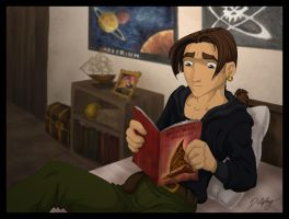 Jimbo Reading by DolphyDolphiana