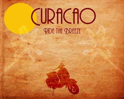 Curacao Vintage Poster by AbstractMentality