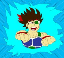 Bardock Charging In by McGreger16