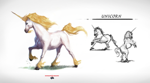 DnD - Monster Manual - Unicorn by tomafeizogas