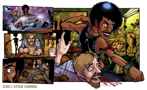 Thin Lizzy Guitar World Illo by SteveChanks