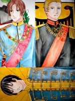 Hetalia:Japan-Germany-Italy II by hanakoofthejungle