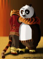 Kung Fu Panda : Po and Tigress by AngelMJ