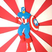Captain America Cut-Out by broopimus