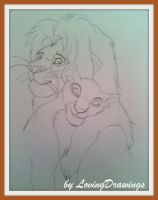 Disney Simba and Nala by LovingDrawings