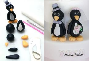 Penguin Figurine by Verusca