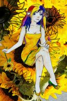 In Her Field of Sunflowers by lunalove2
