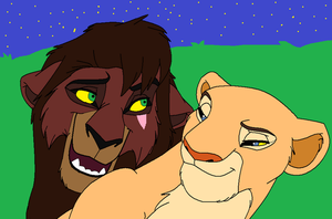 Kovu and Nala by lionkingdog