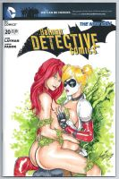 Harley Quinn Poison Ivy - Batman Detective Comics by HM1art