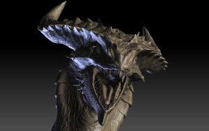 3D Dragon in Progress by Dragolisco