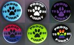 Proud To Be Furry Buttons by punkbawkchicken