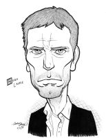 Hugh Laurie caricature by silentsketcher