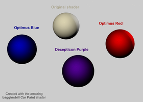 Shiny robot shaders - with thanks to bagginsbill by RazzieMbessai