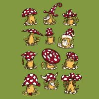 Some Mushrooms by Letter-Q-Artwork