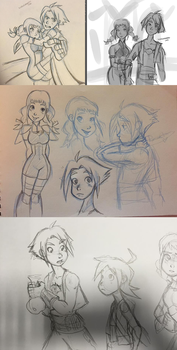 FF XII (basically Vaan and Penelo) sketches. by ilcielocapovolto