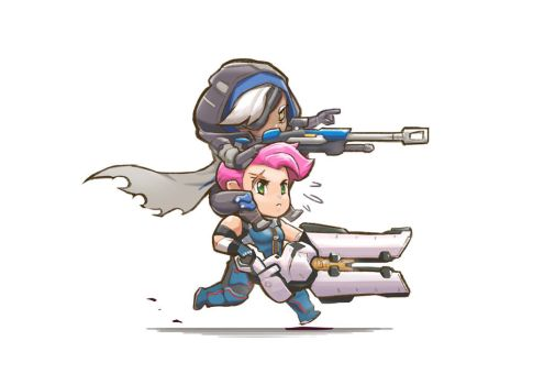 Overwatch Ana and Zarya. by Lutherniel