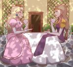 Tea Time With Peach and Zelda by cookiekhaleesi