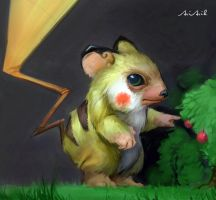 Pika-mouse by AriArik