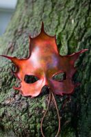Autumn Maple Leather Mask by OsborneArts