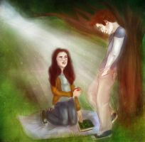 Bella and Edward - Adam and Eve by TheSearchingEyes