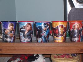 Avengers cups 1 by GoldenAltaira