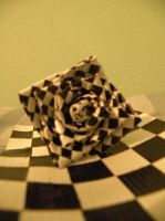 checkerboard duct tape rose by AnimeBrattKAT