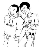 Me and my friend Daniel by beto