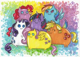 Mane 6 KITTEHS by Kattvalk