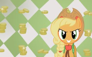 """Applejack """"To Sell"""" Wallpaper by Doctor-G"""