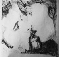 Xena and Ares passional kiss by charlottexenawp92