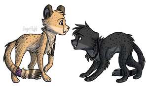 Jasiri and Maisha by GingerFlight