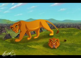 Ahadi and Ukungu Hunting Practice by Elbel1000