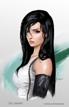 Tifa Lockhart portrait by castcuraga
