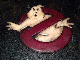 Tooled leather Ghost Buster patch by Skinz-N-Hydez