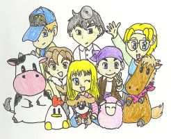 Harvest Moon Crew by Eisha-Suiiki