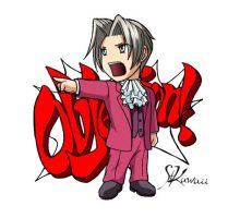 Phoenix Wright stickers-Edgey by StudioKawaii