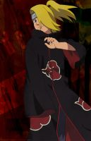Deidara Vector Background by EvoIIICE9A