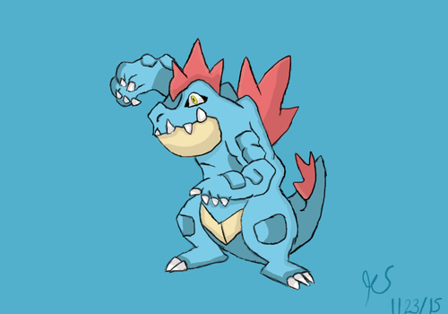Feraligatr by ThatCharizardGuy