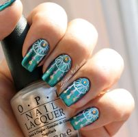 Nail Art Dreamcatcher by Lizananails