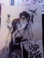 corpse bride drawing by HER13