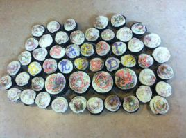Decorated Cupcakes and Mini Cupcakes by wickedwitchinc