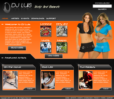 DJ Luis Web Template by Sandlizard
