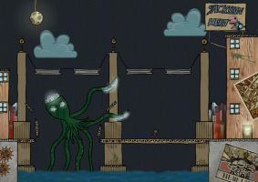 LBP2 - Robot Zombie Octopus by Silver-Stitch