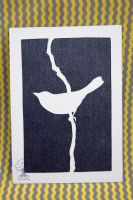 Bird Silhouette ACEO by quirkandbramble