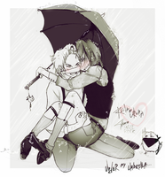 Reituha_under my umbrella by KaZe-pOn
