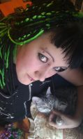 Me and my cute kitty by AvaHtH