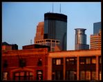Minneapolis from 94 by jh