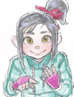 Teenager Vanellope von Schweetz by edwardoo